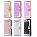 cheap iPhone Cases-Case For Apple iPhone XR / iPhone XS Max Wallet / Card Holder / Rhinestone Full Body Cases Glitter Shine / Rhinestone / Flower Hard PU Leather for iPhone XS / iPhone XR / iPhone XS Max