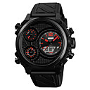 cheap Men's Watches-SKMEI Men's Sport Watch Digital Silicone Black 50 m Water Resistant / Waterproof Calendar / date / day Stopwatch Analog - Digital Classic Fashion - Black Red Blue / Stainless Steel