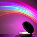 ieftine Lumini Nocturne LED-1pc curcubeu noapte lumina proiector lampă coajă în formă de colorat a condus proiecție lampă uimitor colorat a condus lumina de noapte romantica