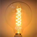 abordables Bombillas Incandescentes-1pc 40 W E26 / E27 G125 Amarillo Cuerpo transparente Bombilla incandescente Vintage Edison 220-240 V