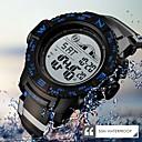 levne Pánské-SKMEI Pánské Sportovní hodinky Digitální Pryž Černá / Fuchsiová 50 m Voděodolné Kalendář Svítící Digitální Na běžné nošení Módní - Černá Červená Modrá