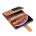 رخيصةأون أغطية أيفون-غطاء من أجل Apple iPhone XS / iPhone XR / iPhone XS Max محفظة / حامل البطاقات / مع حامل غطاء كامل للجسم لون سادة قاسي جلد PU