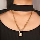preiswerte Mehrreihen Halskette-Damen Pendant Halskette Halskette Lange Halskette Chrom Gold Silber 50 cm Modische Halsketten Schmuck 1pc Für Geschenk Alltag Party Verabredung Festival