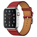 billige Apple Watch urremme-Urrem for Apple Watch Series 4/3/2/1 Apple Klassisk spænde Ægte læder Håndledsrem