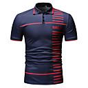 billige T-shirts og undertrøjer til herrer-Herre - Ensfarvet / Stribet / Paisley Patchwork / Trykt mønster Polo