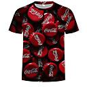 billige T-shirts og undertrøjer til herrer-Rund hals Herre - 3D / Tegneserie Trykt mønster Basale / Gade T-shirt Regnbue XXXXL / Kortærmet