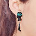 ieftine Cercei-Pentru femei Cercei Picătură Cercei Serie de Animale Pisici Simplu Cute Stil Pentru Copii cercei Bijuterii Negru Pentru Casual Dată 1 Pair