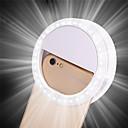 ieftine Lumini Nocturne LED-1pc clip portabil selfie lampă telefon mobil cerc inel flash obiectiv frumusete umple lampa de lumină pentru smartphone telefon mobil