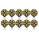 ieftine Becuri LED Bi-pin-10pcs 3 W Becuri LED Bi-pin 180 lm G4 T 12 LED-uri de margele SMD 5050 Adorabil Alb Cald Alb Rece 12 V