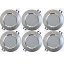 cheap Downlights-YouOKLight 6pcs 5 W 400 lm 10 LED Beads Recessed LED Downlights Warm White 85-265 V Home / Office