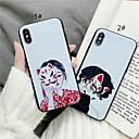 رخيصةأون أغطية أيفون-غطاء من أجل Apple iPhone XS / iPhone XR / iPhone XS Max مثلج غطاء خلفي 3Dكرتون ناعم TPU
