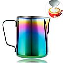 preiswerte Kaffee-Zubehör-Regenbogenfarbe kundenspezifische Kaffeetassen, dampfender Milchaufschäumer für Espressomaschinen