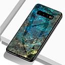 رخيصةأون حافظات / جرابات هواتف جالكسي J-غطاء من أجل Samsung Galaxy S9 / S9 Plus / S8 Plus ضد الصدمات / نموذج غطاء خلفي حجر كريم قاسي TPU / زجاج مقوى