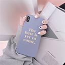رخيصةأون أغطية أيفون-الحال بالنسبة لتفاح iphone xr / iphone xs max / متجمد الغطاء الخلفي كلمة / عبارة soft tpu for iphone x / xs / 6/6 plus / 6s / 6s plus / 7/7 plus / 8/8 plus