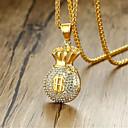 رخيصةأون القلائد-رجالي مكعب زركونيا قلائد الحلي كلاسيكي موضة الصلب التيتانيوم ذهبي 60 cm قلادة مجوهرات 1PC من أجل هدية مناسب للبس اليومي