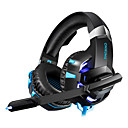 billige Headset og hovedtelefoner-LITBest Gaming Headset Ledning Gaming Lydaktiverede LED-lys
