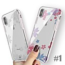 Недорогие Кейсы для iPhone-Кейс для Назначение Apple iPhone XS / iPhone XR / iPhone XS Max Защита от удара / Ультратонкий / С узором Кейс на заднюю панель Мультипликация / Цветы Твердый ТПУ / ПК / силикагель