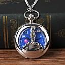ieftine Ceasuri Bărbați-Bărbați Ceas de buzunar Quartz Argint Mare Dial Analog Vintage Modă - Argintiu