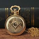 levne Pánské-Pánské Kapesní hodinky Křemenný Zlatá Hodinky na běžné nošení Velký ciferník Analogové Módní Hodinky se slovy - Zlatá