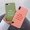 رخيصةأون أغطية أيفون-الحال بالنسبة لتفاح iphone xr / iphone xs max نمط الغطاء الخلفي تغطية كلمة / العبارة الصلب tpu آيفون x xs 8 8 زائد 7 7 زائد 6 6 زائد 6 ثانية 6 ثانية زائد