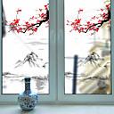 رخيصةأون الستائر-الجبل البرقوق المنقولة pvc فيلم النافذة&amp ؛ أمبير ملصقات الديكور هندسية