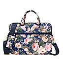 cheap Laptop Bags & Backpacks-13.3 Inch Laptop / 14 Inch Laptop / 15.6 Inch Laptop Shoulder Messenger Bag / Briefcase Handbags Canvas Floral Print for Business Office Unisex Shock Proof