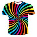 ieftine Decor de Perete-Bărbați Rotund - Mărime Plus Size Tricou Șic Stradă / Punk & Gotic - Bloc Culoare / #D / Grafic Imprimeu Curcubeu XXXXL