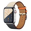 Недорогие Ремешки для Apple Watch-ремешок из натуральной кожи для apple watch band 44мм 40мм 42мм 38мм браслет браслет ремешок для часов ремешок для часов серии iwatch 4 3 2 1