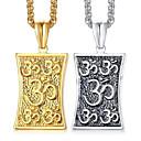billige Mode Halskæde-Herre Halskædevedhæng Klassisk Tro Mode Titanium Stål Guld Sølv 60 cm Halskæder Smykker 1pc Til Gave Daglig