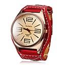 ieftine Ceasuri Bărbați-Bărbați Ceas Elegant Quartz Piele Alb / Roșu Ceas Casual Mare Dial Analog Modă - Alb Rosu Un an Durată de Viaţă Baterie / Oțel inoxidabil