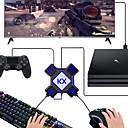 お買い得  PS4 用アクセサリー-スイッチ/ xbox / ps4 / ps3-ブラックブラックのためのkx usbゲームコントローラコンバータキーボードマウスアダプタ