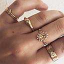 ieftine Inele-Pentru femei Inel / Set de inele / Midi Ring Zirconiu Cubic 5pcs Auriu Diamante Artificiale / Aliaj Declarație / Vintage / Boho Cadou / Zilnic / Stradă Costum de bijuterii / Αστέρι