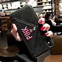 رخيصةأون أغطية أيفون-غطاء من أجل Apple iPhone X / iPhone 8 Plus / iPhone 8 محفظة / بريق لماع غطاء خلفي جملة / كلمة ناعم جلد PU