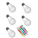 abordables Luces LED de Doble Pin-5pcs 5 W Bombillas LED Inteligentes 350 lm E26 / E27 A60(A19) 3 Cuentas LED SMD 5050 Smart Regulable Fiesta RGBW 85-265 V