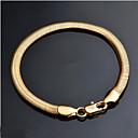 ieftine Coliere-Bărbați Brățări cu Lanț & Legături Clasic Prețios Stilat Alamă Bijuterii brățară Auriu Pentru Zilnic Muncă / Argilă / Placat Auriu