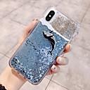 رخيصةأون أغطية أيفون-غطاء من أجل Apple iPhone X / iPhone 8 Plus / iPhone 8 سائل متدفق / بريق لماع غطاء خلفي حيوان / كارتون ناعم TPU