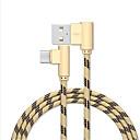 Недорогие Нормальные зарядные устройства-Micro USB Кабель 1m-1.99m / 3ft-6ft Плетение / Быстрая зарядка Нейлон Адаптер USB-кабеля Назначение Samsung / Huawei / Xiaomi