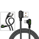billige Telefontilbehør-Belysning Kabel Flettet Lerret USB-kabeladapter Til iPad / iPhone