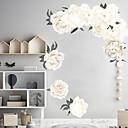 رخيصةأون ملصقات ديكور-ملصقات الحائط الزهور البيضاء الجميلة - الكلمات&أمبير ؛ ampamp يقتبس ملصقات الحائط الشخصيات دراسة غرفة / مكتب / غرفة الطعام / المطبخ