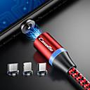 ieftine Faruri de Mașină-casem iphone / type-c / micro usb 2 in 1 încărcător magnetic telefon cablu de încărcare rapidă a condus 1.0m (3ft) nylon împletit android pentru iphone / samsung / huawei / sony