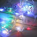 Недорогие LED ленты-10 м Гирлянды 100 светодиоды Разные цвета Декоративная Аккумуляторы AA 1 комплект