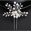 ieftine Bijuterii de Păr-Pentru femei Cute Stil Elegant Imitație de Perle Aliaj Zilnic Petrecere Nuntă - Floral