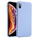 Недорогие Кейсы для iPhone-Кейс для Назначение Apple iPhone XS / iPhone XR / iPhone XS Max Защита от удара Кейс на заднюю панель Однотонный Мягкий Силикон