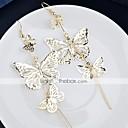 abordables Pendientes-Mujer Pendientes colgantes Mariposa Elegante Simple Aretes Joyas Dorado Para Diario Trabajo 1 Par