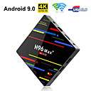 ieftine Cutii TV-h96 max + tv box android 9.0 4gb berbec 64gb rockchip rk3328 h.265 4k youtube netflix google juca inteligent tv caseta