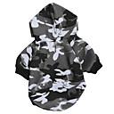 ieftine Imbracaminte & Accesorii Căței-Câini Hanorace cu Glugă Hanorca Îmbrăcăminte Câini Culoare Camuflaj Negru Material Textil Lână Costume Pentru Dalmațian Corgi Beagle Primăvară Vară Unisex stil minimalist Casual / sportiv