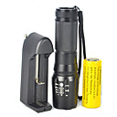 cheap Flashlights-LED Flashlights / Torch 5000 lm LED Cree® XM-L T6 Emitters 1 Mode Zoomable Adjustable Focus Dimmable Camping / Hiking / Caving Cycling / Bike Traveling