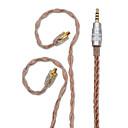 billige Audio- og videokabler-bqeyz opgradering 8 kerner enkeltkrystal kobbertråd øretelefon kabel in-ear monitor mmcx 2,5 mm afbalanceret stik