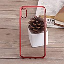 cheap iPhone Cases-Case For Apple iPhone XS / iPhone XR / iPhone XS Max Plating Back Cover Transparent Soft TPU