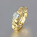 ieftine Inele-Pentru femei Band Ring 1 buc Auriu Ștras / Placat Auriu / Aliaj Geometric Shape Design Unic / Modă Zilnic / Muncă Costum de bijuterii